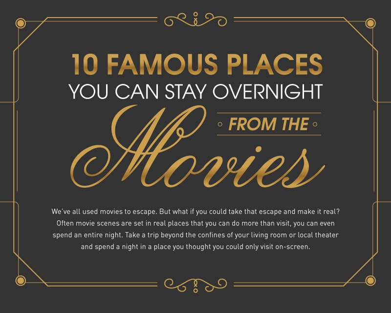 10 Famous places you can stay overnight from the movies