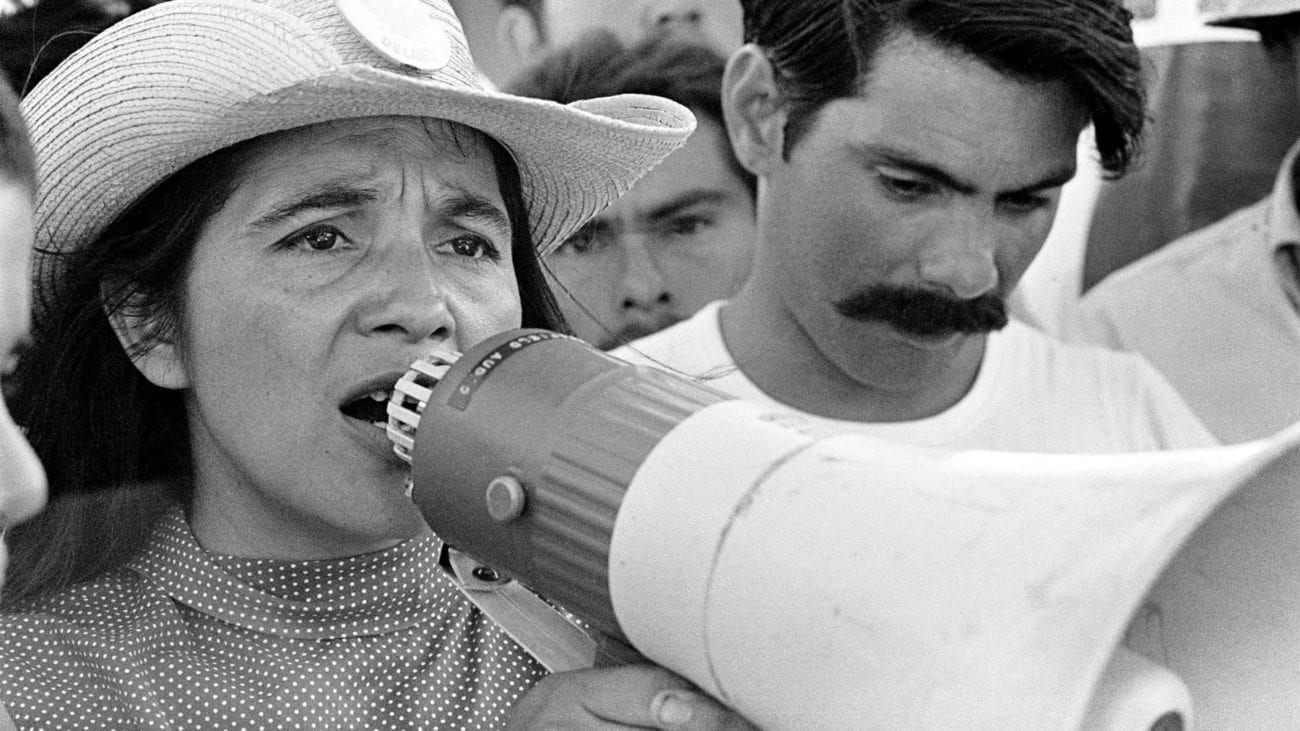 Dolores Huerta was Cesar Chavez's equal partner and co-founder of the first farm workers' union in America.