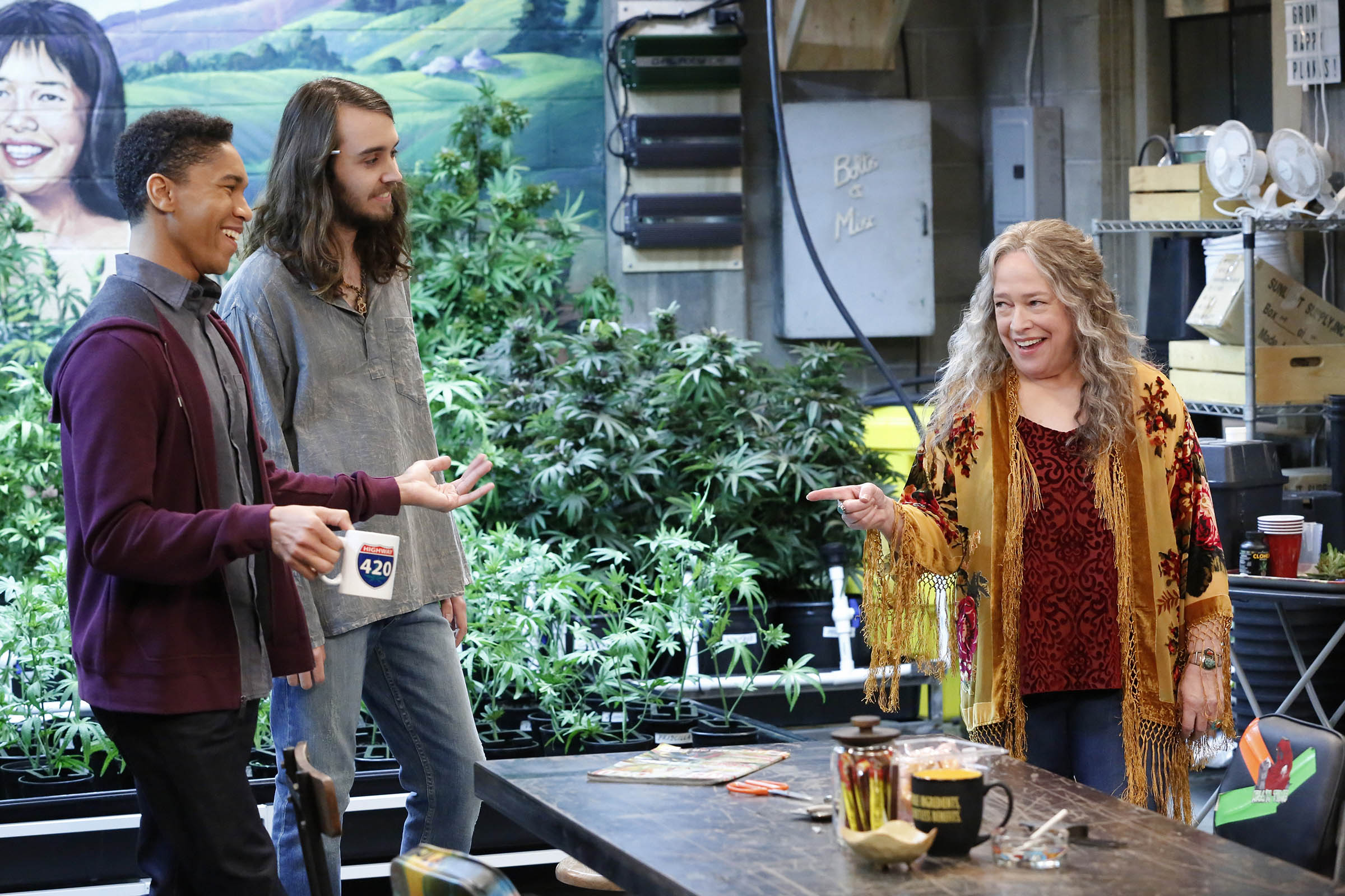 In 'Disjointed', Kathy Bates plays a lifelong advocate for legalization finally living her dream as the owner of an Los Angeles cannabis dispensary.