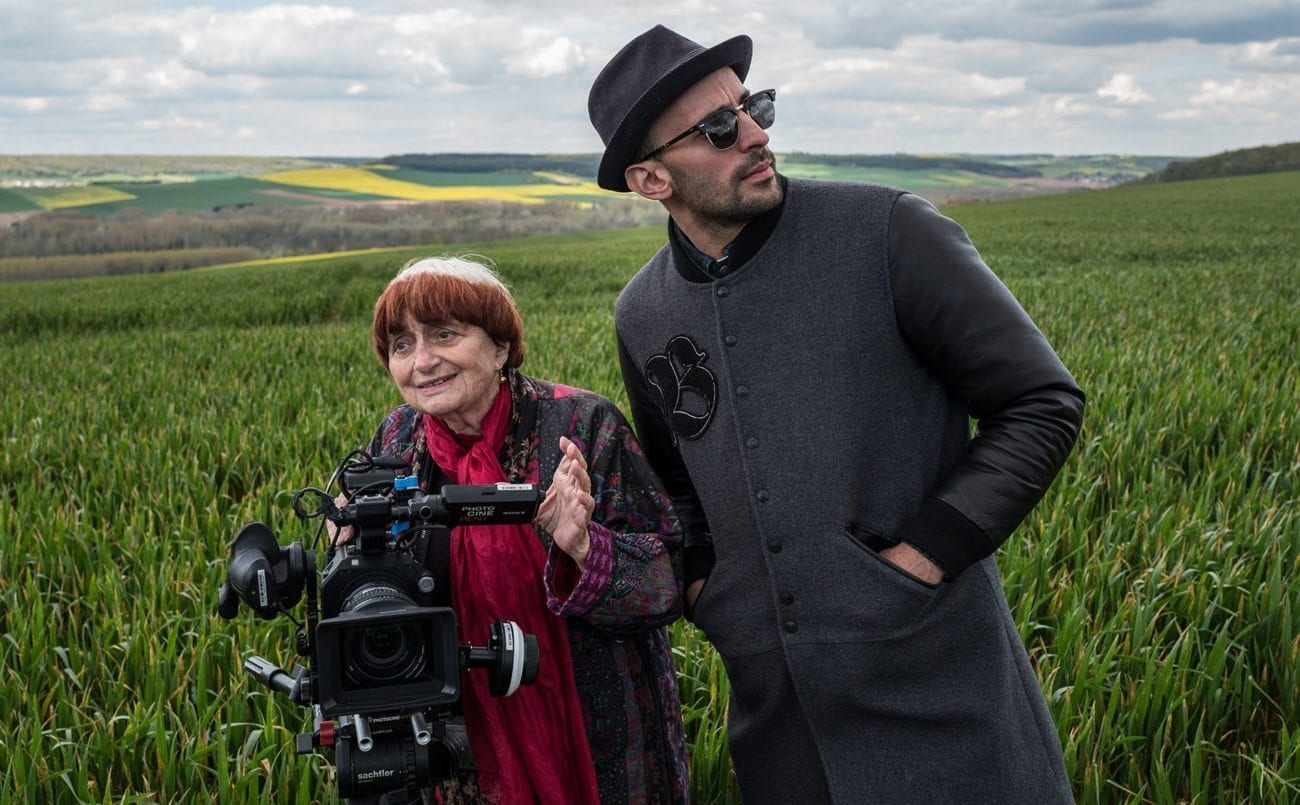 89-year old Agnès Varda and acclaimed 33-year-old French photographer and muralist JR team up to co-direct 'Faces Places'.