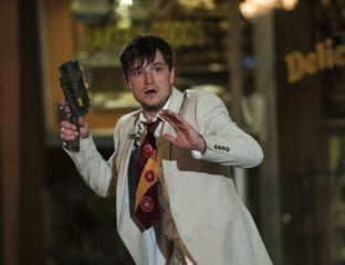Josh Hutcherson is recruited by mysterious visitors to travel through time in order to prevent the extinction of humanity in Hulu's 'Future Man'.
