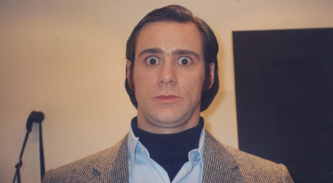Jim Carrey portrayed Andy Kaufman in Man on the Moon. For 20 years, the behind-the-scenes footage was withheld until now in 'Jim & Andy: The Great Beyond'.
