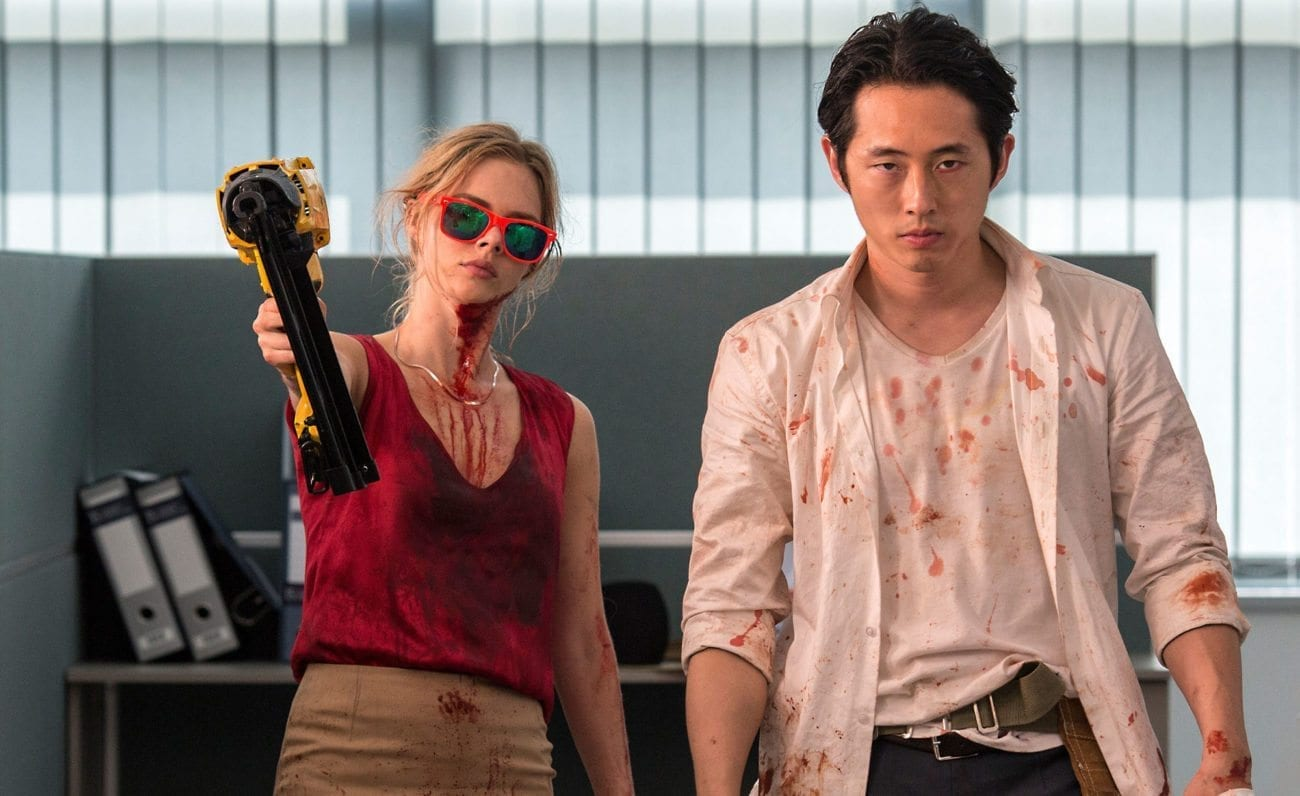 In 'Mayhem', an airborne virus infects the corporate tower of a major law firm on the day attorney Derek Saunders is wrongfully fired.
