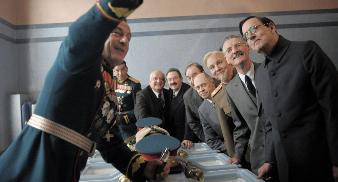 The internal political landscape of 1950's Soviet Russia takes on darkly comic form in Armando Iannucci's 'The Death of Stalin'.