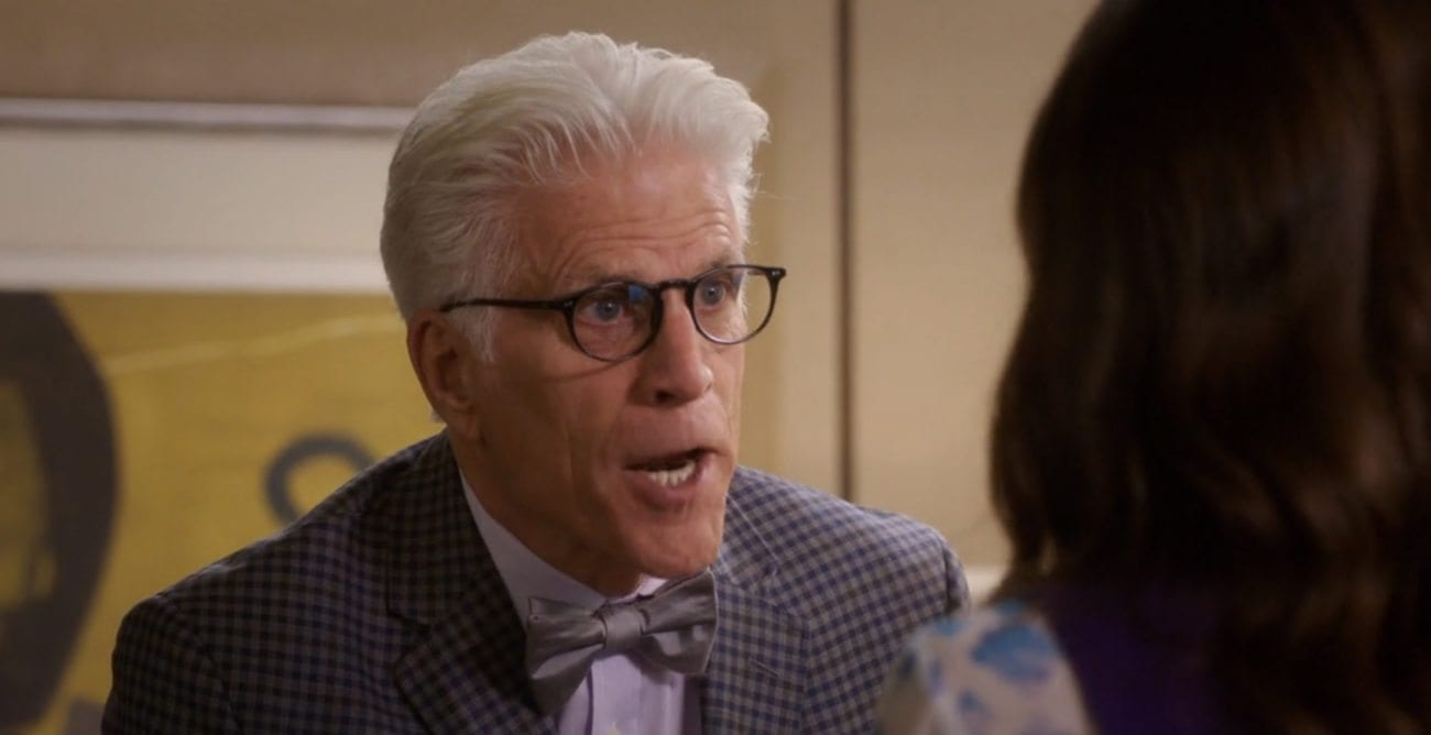 """""""Derek"""", the mid-season finale of 'The Good Place' was a weak offering saved by the ever-delightful mischief of demigod Ted Danson."""
