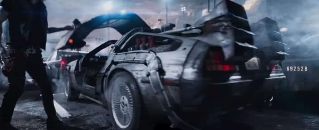 The DeLorean in 'Ready Player One'
