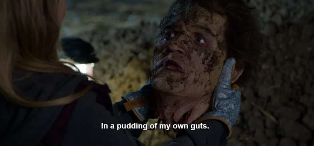 In a pudding of my own guts
