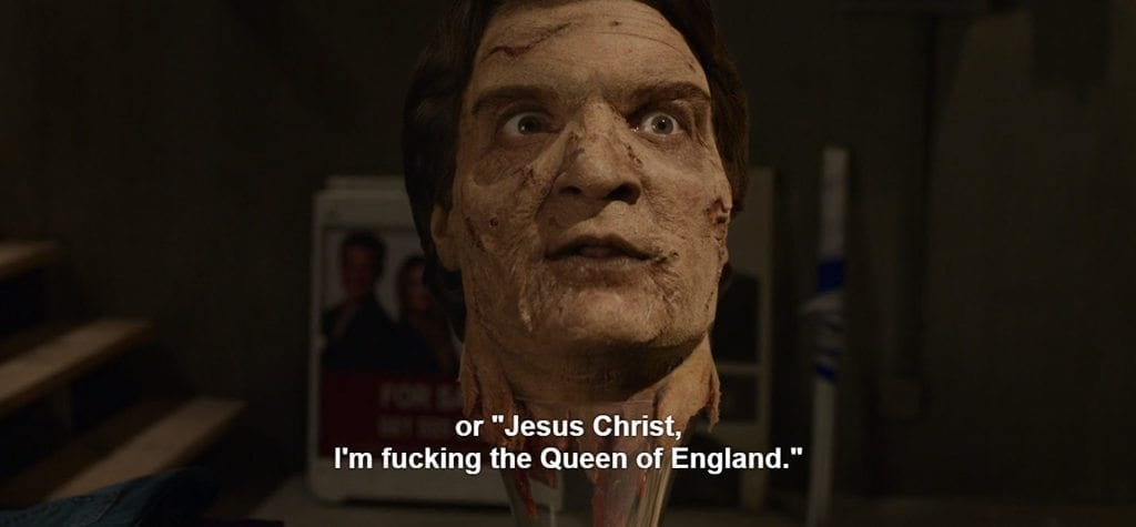 "or ""Jesus Christ, I'm fucking the Queen of England."""