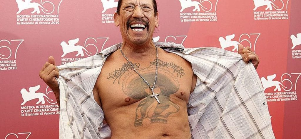 Danny Trejo's chest tattoo
