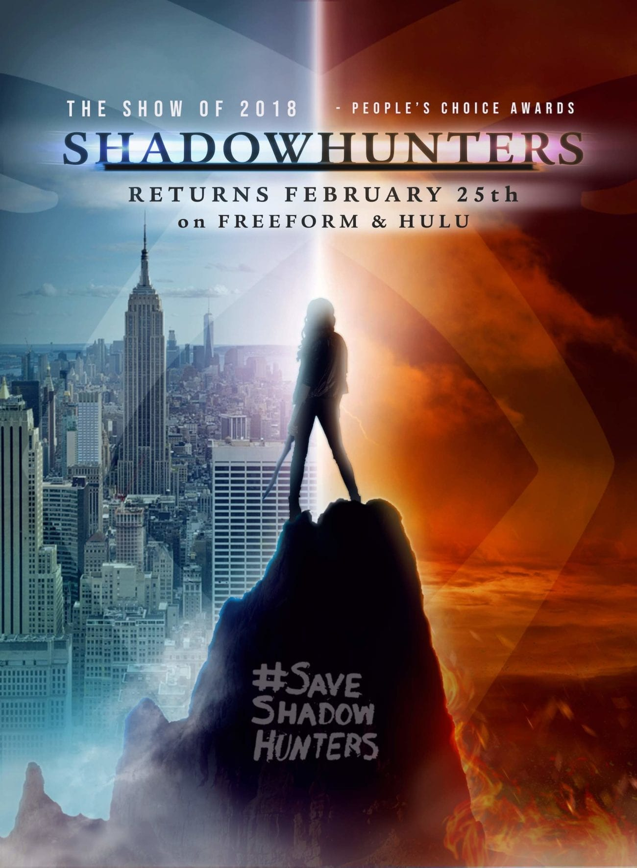 We've partnered with @BoomBitchesSH to help raise awareness around the historic marketing that the Shadowfam have been doing for 'Shadowhunters' season 3B.