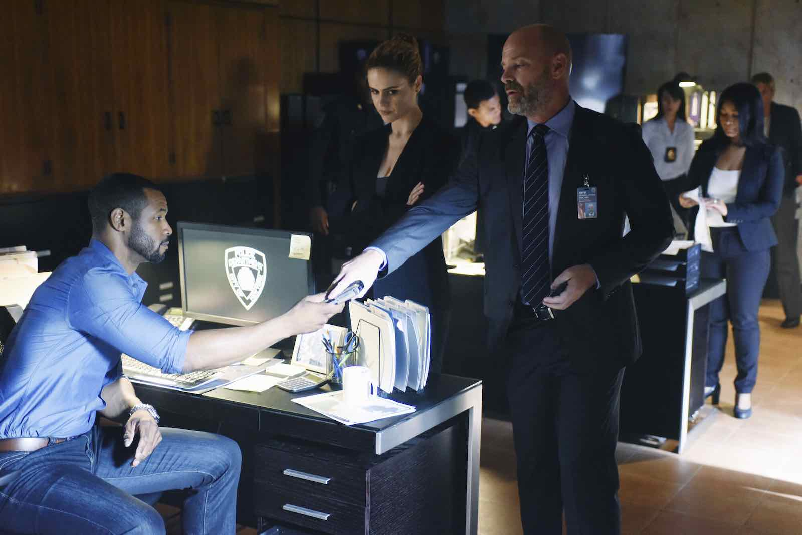 Image for When we first meet Luke as an acting NYPD detective, how many bodies were drained of blood?