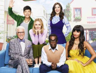 "'The Good Place' is back, benches! After leaving us in a puddle of tears after ""Pandemonium"" last season, we're back in the new fake Good Place."