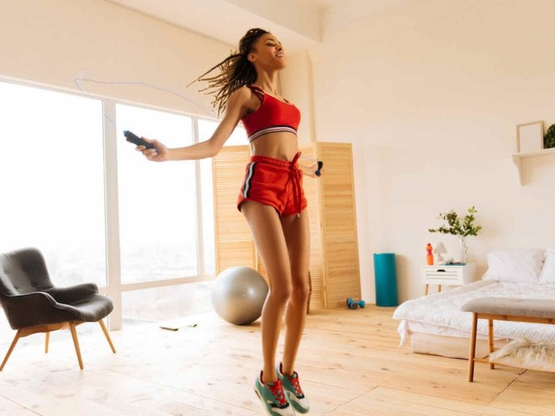 You can always find a way to get in shape without being in a gym. Here's how bingewatchers can benefit from at-home fitness.