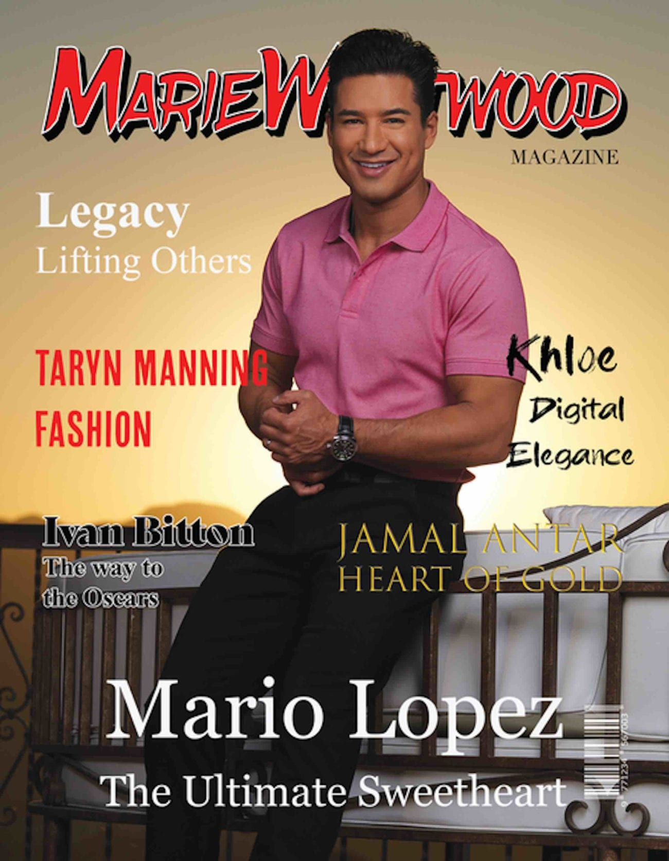 The Winter 2019 Marie Westwood Magazine boasts a dual cover edition featuring Mario Lopez (The X Factor) and heiress and lingerie designer Kalia Methven.